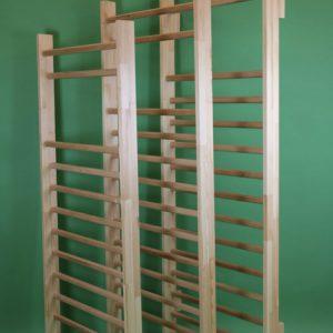 Drabinka gimnastyczna 220 x 70, 80, 90 cm drewno Bukowe zestaw montażowy