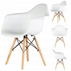 Nowoczesne Krzesło krzesła zestaw 4 krzeseł do salonu jadalni